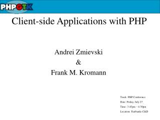 Client-side Applications with PHP