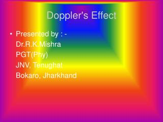 Doppler's Effect