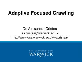 Adaptive Focused Crawling