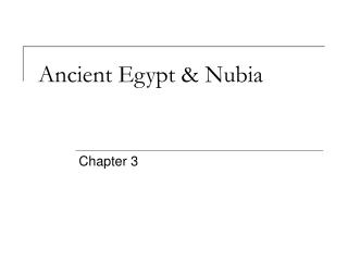 Ancient Egypt & Nubia