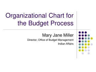 Organizational Chart for the Budget Process