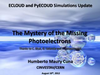 The Mystery of the Missing Photoelectrons