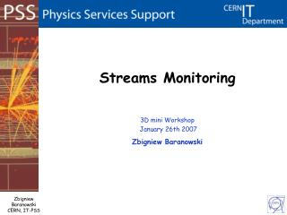 Streams Monitoring
