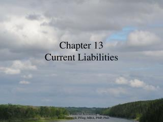 Chapter 13 Current Liabilities
