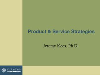 Product & Service Strategies