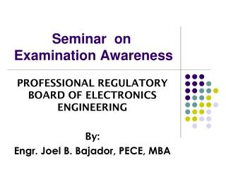 Seminar  on  Examination Awareness