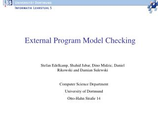External Program Model Checking