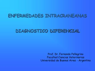 ENFERMEDADES INTRACRANEANAS DIAGNOSTICO DIFERENCIAL