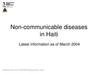 Non-communicable diseases in Haiti