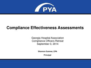 Compliance Effectiveness Assessments