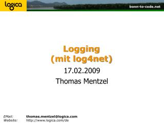 Logging (mit log4net)