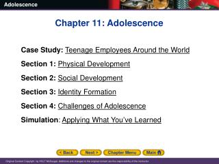 Chapter 11: Adolescence Case Study: Teenage Employees Around the World