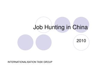 Job Hunting in China