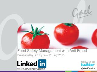 Food Safety Management with  Anti Fraud