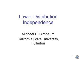 Lower Distribution Independence