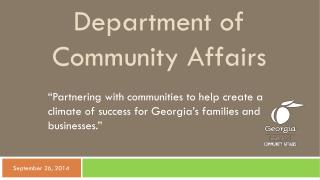 Department of Community Affairs
