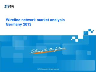Wireline  network market analysis Germany 2013