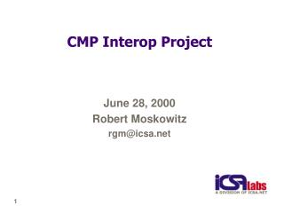 CMP Interop Project
