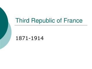 Third Republic of France