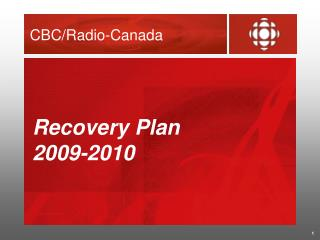 Recovery Plan  2009-2010