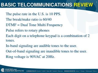 BASIC TELCOMMUNICATIONS  REVIEW