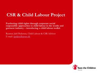 CSR & Child Labour Project