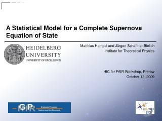 A Statistical Model for a Complete Supernova Equation of State