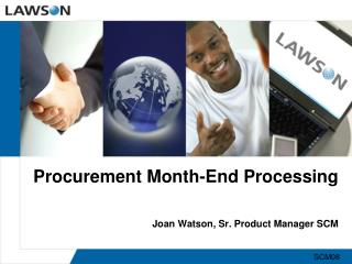 Procurement Month-End Processing