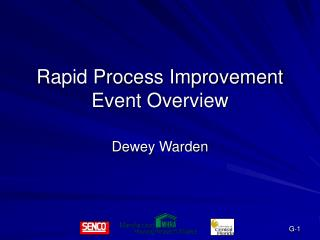 Rapid Process Improvement Event Overview