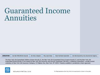 Guaranteed Income Annuities