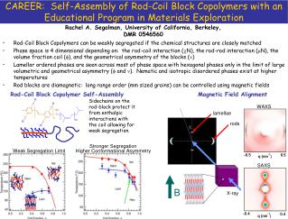 Rod-Coil Block Copolymers can be weakly segregated if the chemical structures are closely matched