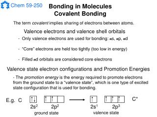 Bonding in Molecules Covalent Bonding