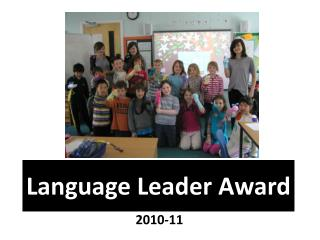 Language Leader Award