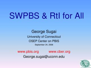 SWPBS & RtI for All