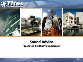 Sound Advice Presented by Randy Zimmerman