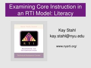Examining Core Instruction in an RTI Model: Literacy