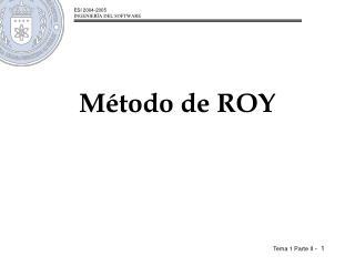 Método de ROY