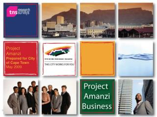 Project Amanzi Prepared for City of Cape Town May 2009
