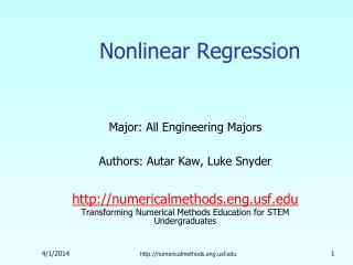 Nonlinear Regression
