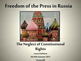 Freedom of the Press in Russia