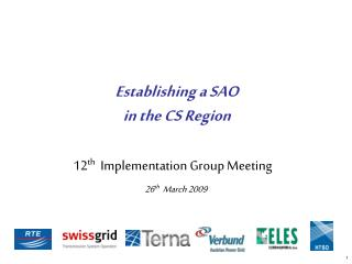 12 th   Implementation Group Meeting 26 th   March 2009