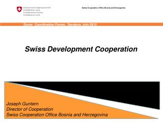 Swiss Cooperation Office Bosnia and Herzegovina