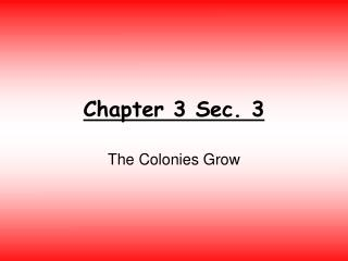 Ppt 13 Colonies Identification Quiz Powerpoint