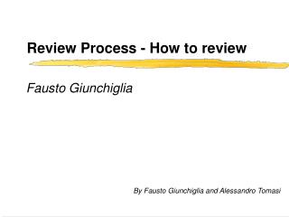 Review Process - How to review