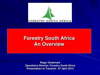 Forestry South Africa An Overview