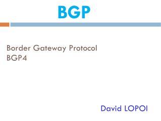 Border Gateway Protocol  BGP4
