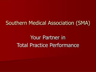 Southern Medical Association (SMA)