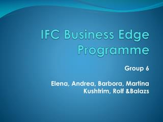 IFC Business Edge Programme