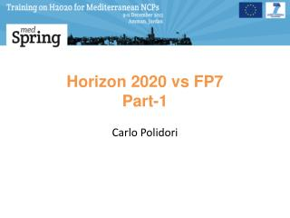 Horizon 2020  vs  FP7 Part -1