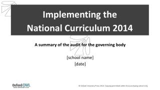 Implementing the  National Curriculum 2014